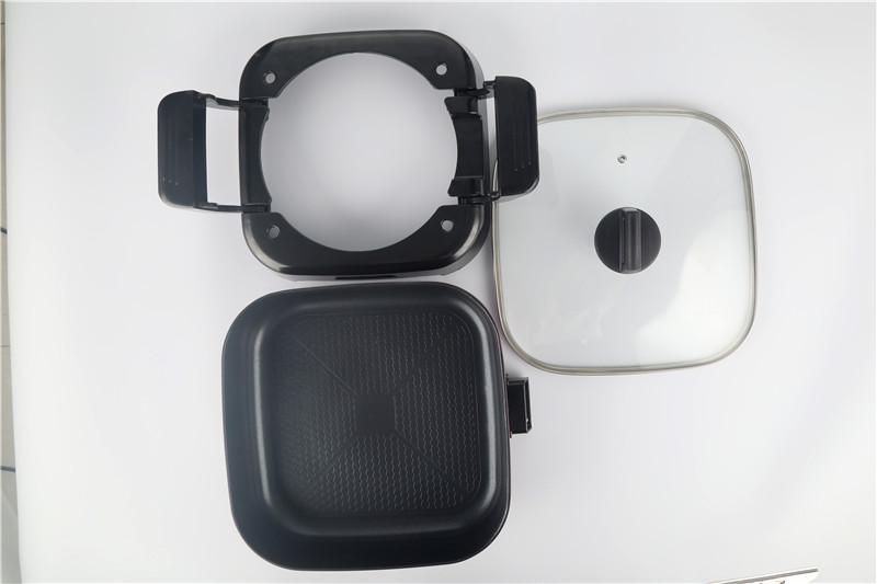Многофункциональный квадратный 30 см съемная с антипригарным покрытием электрическая сковорода