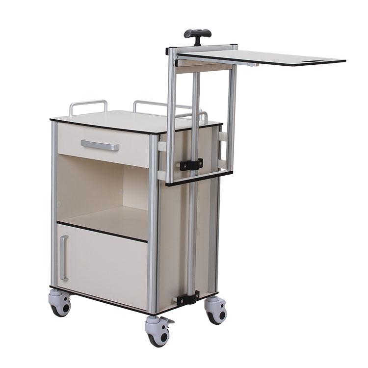 hospital medicine K board metal locker medical bedside cabinet with dining-table