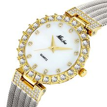 MISSFOX женские часы с серебряные украшения с бриллиантами Роскошная элегантность минимализм популярные женские часы ручной браслет большинс...(Китай)