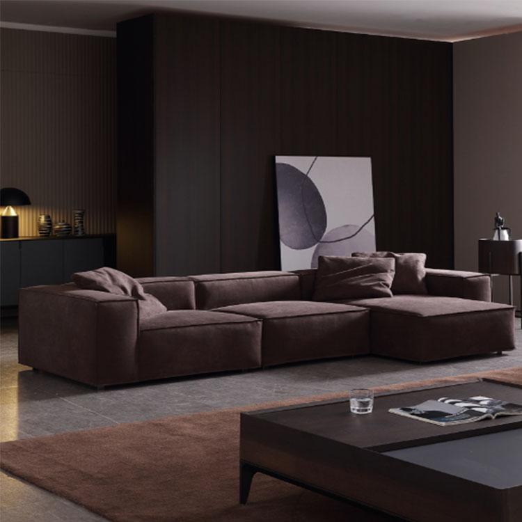 Northern Europe cloth art   sitting room furniture  princess corner combination light luxury science and technology fabric sofa