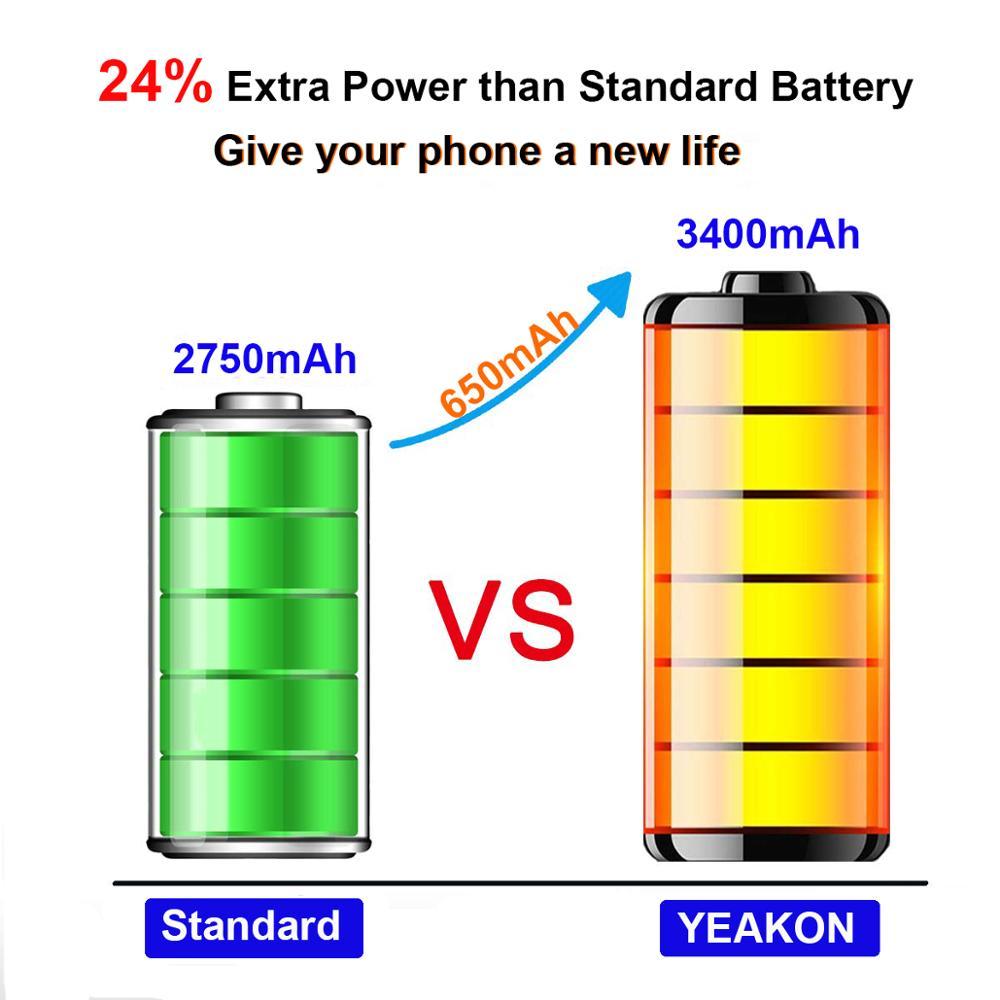 Оптовая продажа, Сменный аккумулятор для сотового телефона с полной емкостью 3400 мАч, совместим с iPhone 6s Plus
