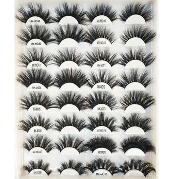 wholesale strip 25mm 5D 3D mink eyelashes vendor, mink eyelashes private label faux mink false eyelashes