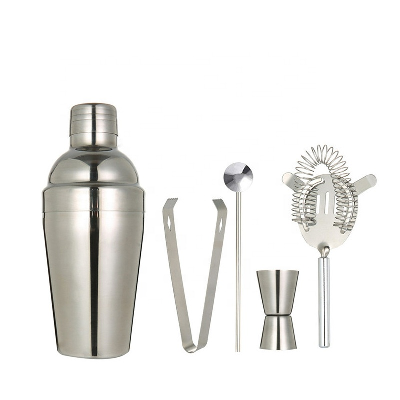 Factory Direct stainless steel stand bar tool shakers cocktail drink mixer set