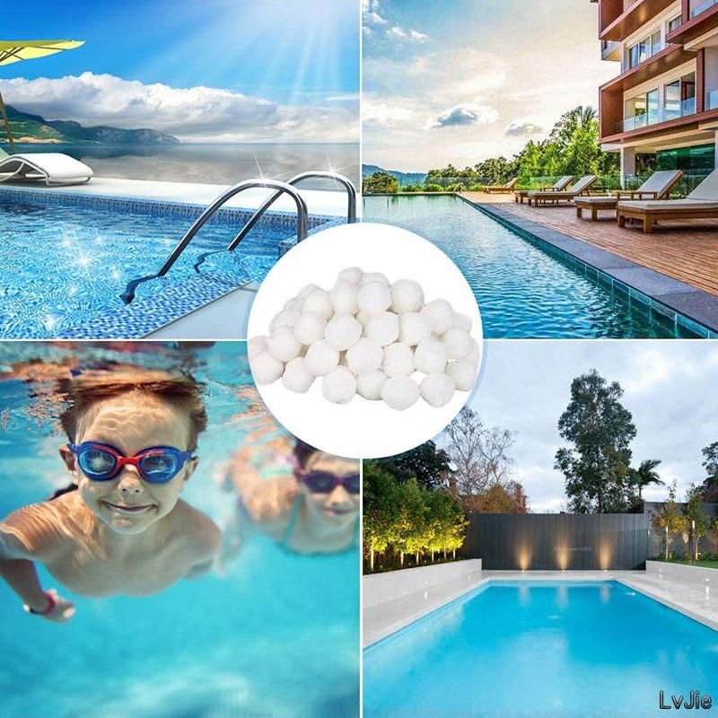 Swimming pool water treatment filter material polyester fiber household spherical fiber water treatment fiber