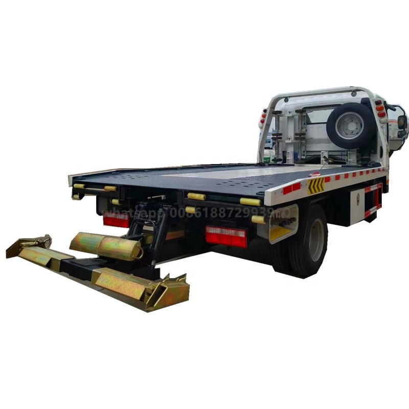 Small 4 ton 5 ton Flatbed Tow Truck Transport Car Carrier Truck