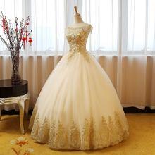 ANGELSBRIDEP милое 16 бальное платье Quinceanera платье 2020 Золотые Аппликации с коротким рукавом Vestidos De 15 знаменитости вечерние платья, лидер продаж(Китай)