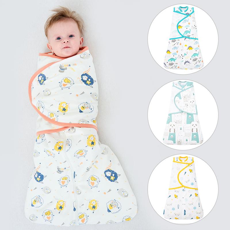 Высококачественный супер мягкий противоударный спальный мешок для новорожденных из органического хлопка