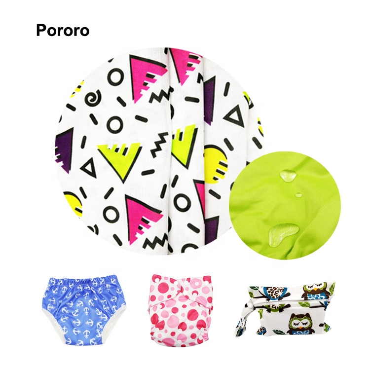 New Print Eco PUL Fabric For Cloth Diaper In Stock