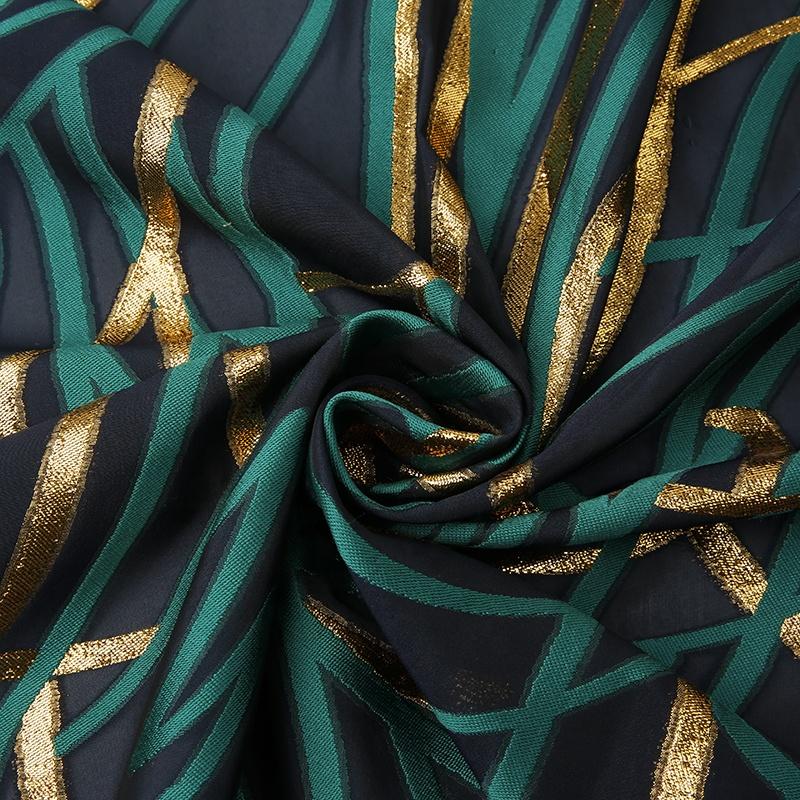 TDJG1418M 2020 hot sell 100%polyester stripe line chiffon dresses jacquard fabric