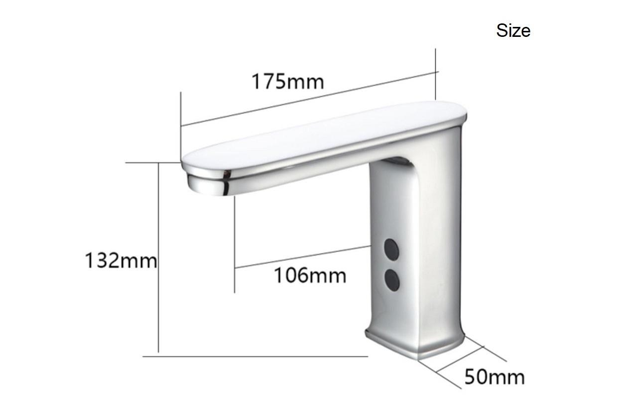 Коммерческий автоматический смеситель для воды F186, Электрический смеситель для воды с датчиком для ванной комнаты