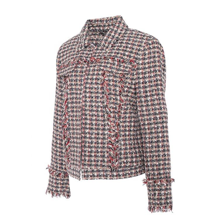Huiquan Современная Эстетическая доступная Дамская твидовая куртка легко сочетается с леггинсами