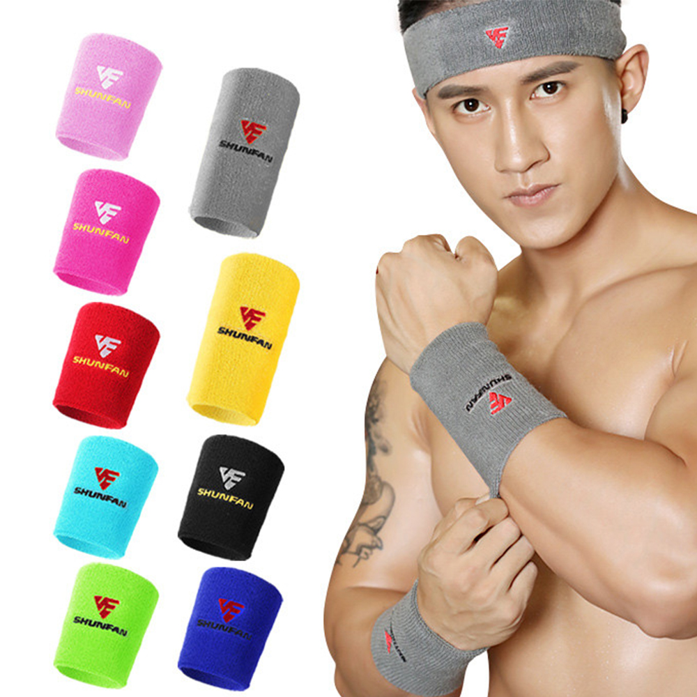 Cotton Latex and Nylon Wrist Protector Sports Fitness Wristband Gym Cycling Bracer