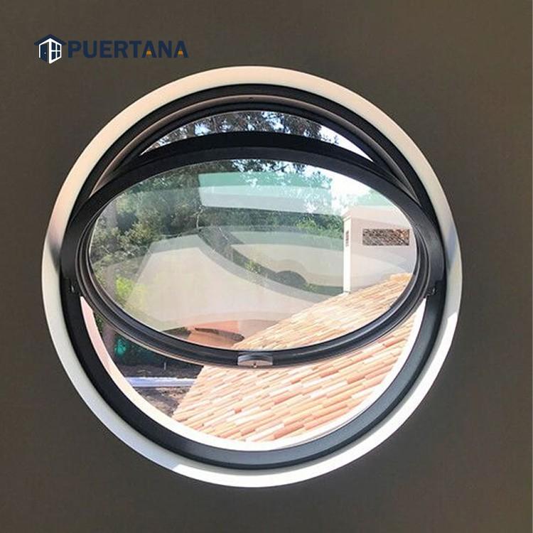 Алюминиевое круглое окно, алюминиевое круглое вертикальное поворотное окно
