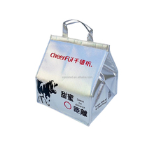 15 lb en mousse de papier d'aluminium non tissé froid d'isolation shoulderpack flexible livrer congeler le poisson froid chaîne sac doublure intérieure fourre-tout