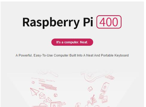 Newest Raspberry pi 400 personal computer kit compact keyboard with a built-in computer Raspberry Pi 400, Easy-To-Use