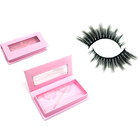Eyelashes Eyelashes 3d Wholesale Vendor Faux Mink Silk Hand Made 3d Synthetic Fiber Eyelashes 50 Pairs Synthetic Hair Natural