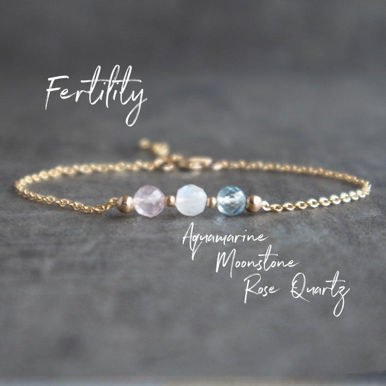 Love Bracelet Minimalist Jewelry Simple bracelet for Women Wish Bracelet Crystal Healing Rose quartz bracelet Fertility bracelet