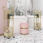 Storage Holders New Gold Luxury Nordic Living Room Office Metal Bathroom Home Rack Organizer Kitchen Storage Holders With Wheels