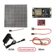 СВЕТОДИОДНЫЙ матричный 16x16 DIY GyverLamp wifi лампа Гибкая цифровая Гибкая Адресуемая полоса пиксельный светильник WS2812B RGB DC5V дисплей(Китай)
