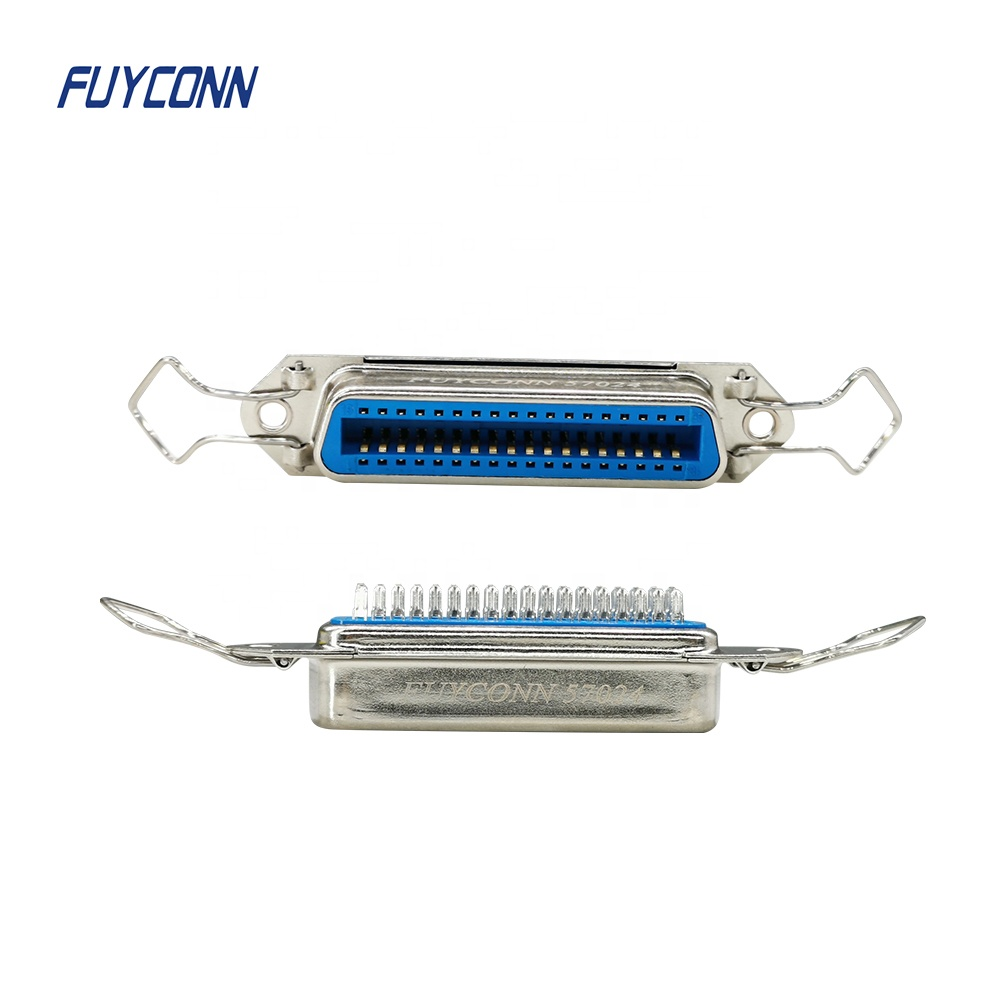 14 24 36 50 Pin Solder Centronic Connector, Solder Cup Contacts Female 57 CN Connector with Easy Type Insulation Bail Clip