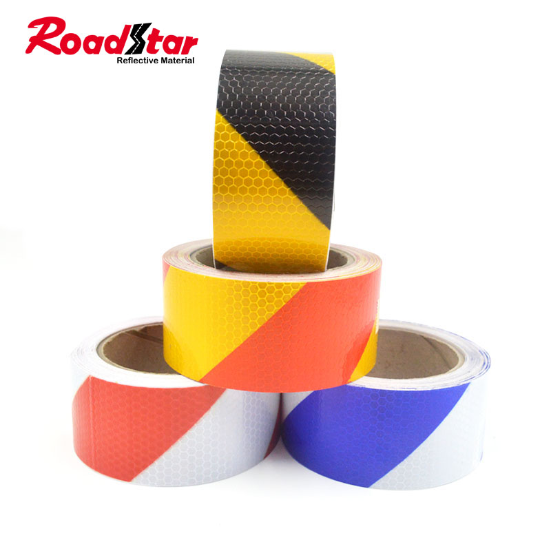 Reflective Tape Safety Stickers Safety Warning Self-Adhesive Reflector New