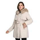 Women Jacket Coat Fur Hood Coat Customized Warm Plus Size Faux Fur Collar Hooded Women Parka Winter Down Jacket Bubble Coat Clothes