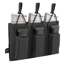 Krydex Тактический магнитный держатель тройной мешочек с эластичной веревкой для JM M4 5,56 водные гелевые бусинки аксессуары для журналов(Китай)