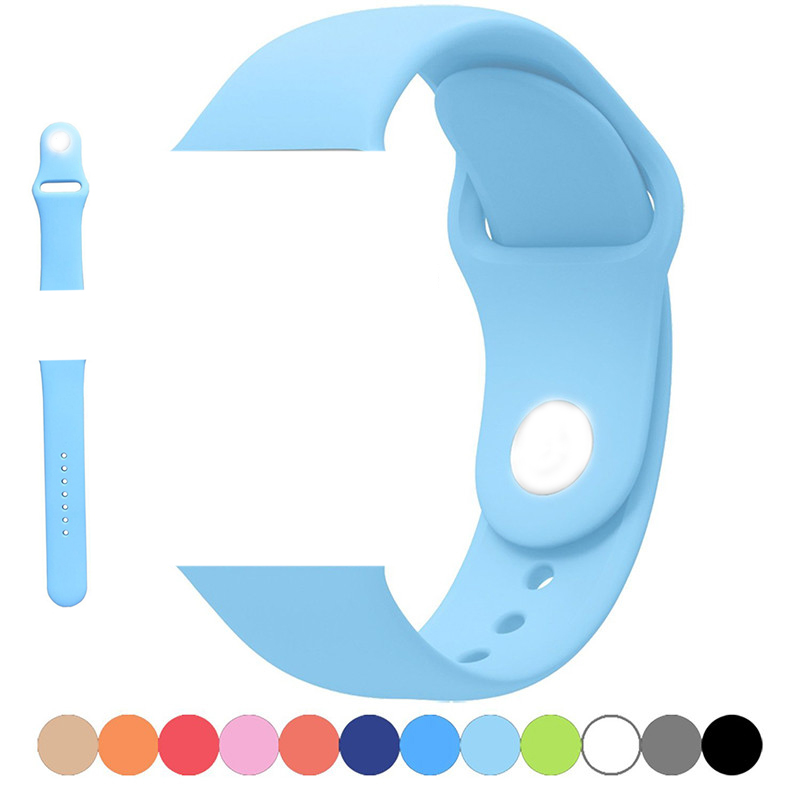 for apple watch silicon band, for apple iwatch series 1/2/3/4/5/6/SE replacement rubber sport smart watch straps