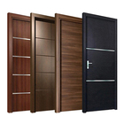 Modern home hotel indoor room swing wooden doors design interior bedroom pvc coated mdf wood flush door