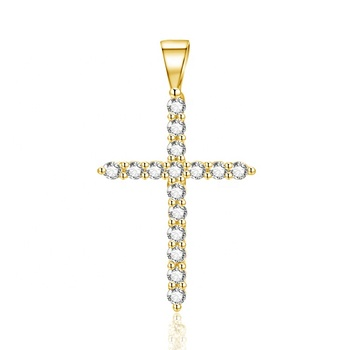 POLIVA 18K Gold Plated 925 Sterling Silver Cross Pendant Gold Pendant