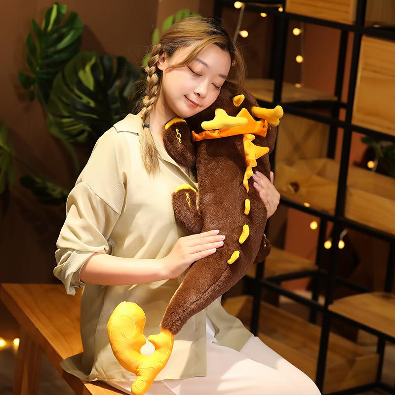 Игровая Классическая ударная Подушка Genshin, кукла ZHONGLI, призрак дракона, косплей, Плюшевые Милые Мультяшные аксессуары