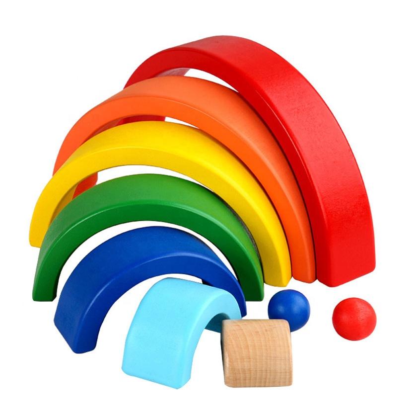 BUILDING BLOCKS SET  Montessori toy Waldorf toy Wooden toy baby blocks building blocks wooden rainbow