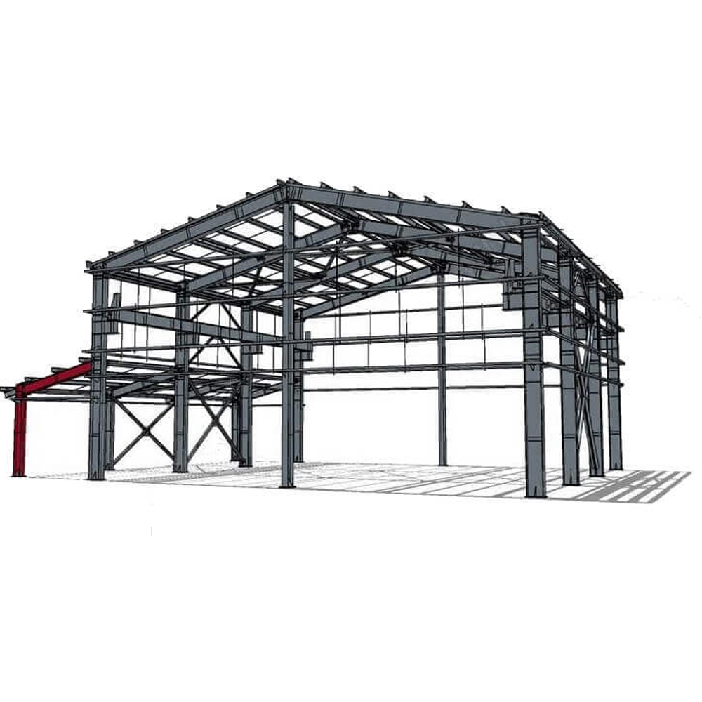 2021 new design Low Cost Fast Assembling Prefabricated Steel Structure Workshop/warehouse/hanger