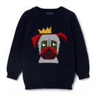 Knit sweater designer kids clothes China cute dog baby boy warm wear wholesale