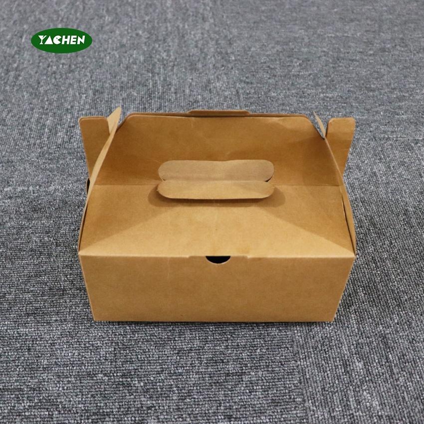 Yachen hot sale Eco Friendly Biodegradable disposable take away kraft paper Fried chicken box