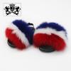 フランス旗子供毛皮のサンダル