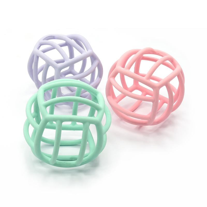 New  Hot Sale Non Toxic Soft Food Grade Silicone Baby Ball Toys