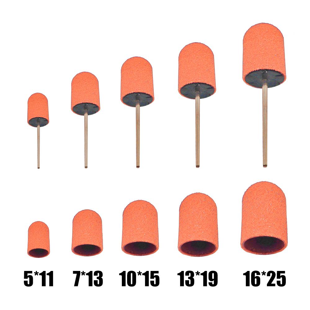 Полированный пластиковый шлифовальный колпачок 80 грит абразивный инструмент для удаления ножек инструменты для педикюра для подиарии Полированный пластик шлифовальный колпачок 80 Грит бит абразивный Удаления Резак средства ухода за кожей стоп инструмент