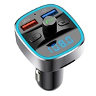AGETUNR T25S bluetooth 5.0 fm transmitter quick charge 3.0 display voltage AUX SD USB-Disk hands free kit car mp3 player Black