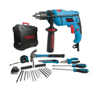FIXTEC Power Tools Combo Set Electric Impact Drill Kit With 50Pcs Accessories