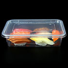 Frozen Food Containers For Food Disposable Take Out Containers 500ml Transparent Frozen Microwave Rectangular Disposable Plastic Food Containers For Fast Food