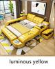Leather luminous yellow