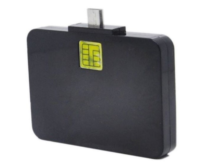 Mobile Phone Android Micro USB OTG Contact smart IC ID card Reader - USBSKY   USBSKY.NET