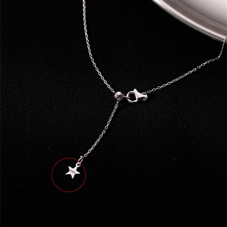 Новый дизайн 2021, ожерелье из стерлингового серебра 925 пробы с подвеской-кисточкой, роскошное ожерелье-чокер со звездой и Луной