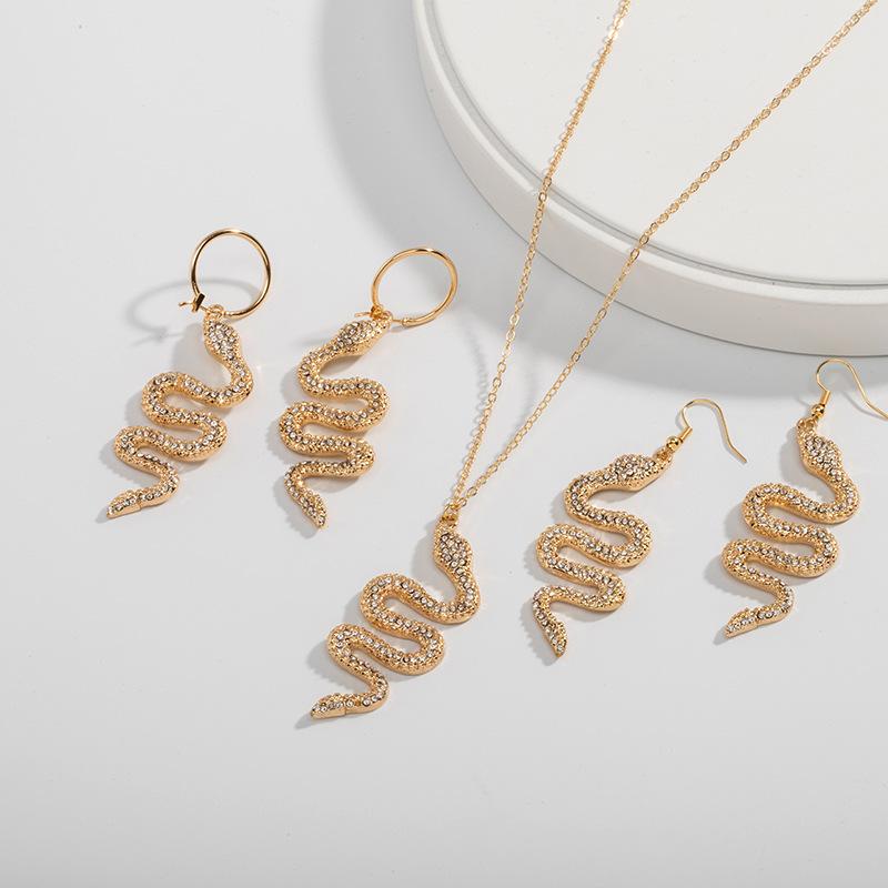 Snake Necklace /& Earrings Set