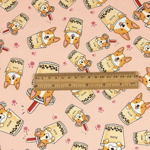 wholesale lightweight breathable cartoon puppy dog design 100% cotton poplin canvas print fabric for pillows for bag