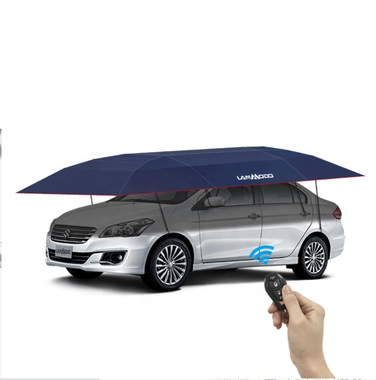 Free Shipping to Saudi Arabia Automatic Car Tent Umbrella New Arrival Lanmodo 4.8 Meter Automatic Foldable Car Covers