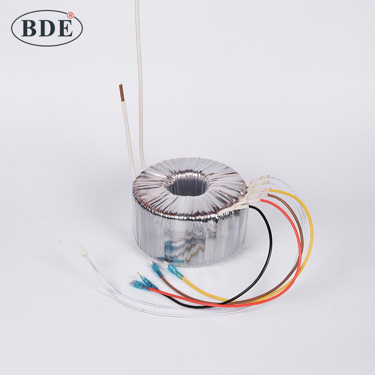 Custom Single Phase 110v 220v 230v Iron Core 24-0-24 High Quality Power Toroidal Transformer