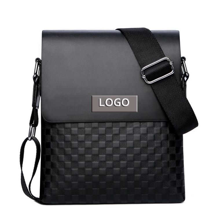 Пользовательский moq тисненый логотип кожаная сумка через плечо мужская сумка-мессенджер
