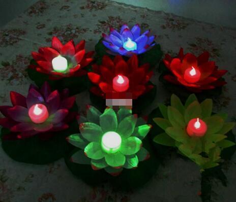Новое поступление, светодиодная лампа в форме лотоса диаметром 19 см, цветная сменная плавающая лампа для бассейна, для желаний, праздничные фонари